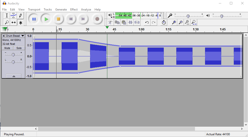 Standard Audacity Screenshot